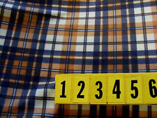 Soft Polyester Fabric - Brown Check Print - 150cm Wide off the roll - New by Dcf