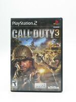 Call of Duty 3 PS2 PlayStation 2 TESTED COMPLETE FREE SHIPPING