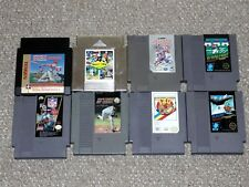 Lot of 8 Nintendo NES Sports Game Cartridges: NFL, Blades of Steel, Slalom More