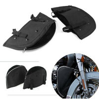 Soft Lowers Chaps Leg Warmer Bag Replacement Fit for Harley Softail FLSTC FLSTF