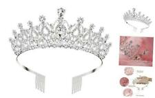 Makone Crystal Crowns and Tiaras with Comb for Girl or Women Birthday Party Vale