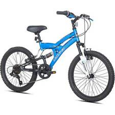 Mountain Bike For Boys Bicycle 20 Inch Blue Adjustable Seat 7 Speeds ride