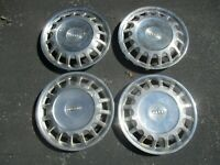 Genuine 1980 to 1984 Audi 4000 13 inch hubcaps wheel covers no clips