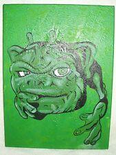 Canvas Painting Boglin Dwork Textured Green Art 16x12 inch Acrylic