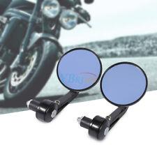 "Pair 7/8"" Aluminium Motorcycle Bike Round RearView Handle Bar End Side Mirror AP"