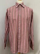 Mens | Hugo Boss Striped Button Down Formal Shirt | Pink | Size 44 - 17.5