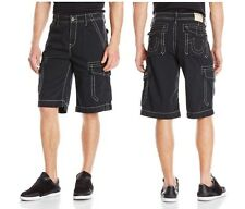 New True Religion Brand Jean Men's Casual Trooper Issac cargo shorts Black Red