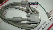 APPLE Monitor Cable w 3x BNC to HD-15 Connectors Rare VINTAGE GENIUNE Collectors