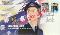 PNC Australia 2020 ANZAC Day 75th Anniversary End WWII RAM $2 Coloured Coin