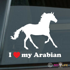 I Love my Arabian Sticker Die Cut Vinyl Ver 2 Arab Horse