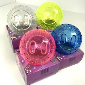 Strong Hamster Exercise Ball With Glitter Blue Pink Yellow Clear 18 cm