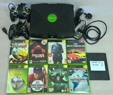 Working Xbox Classic Console - 2 Controllers - 9 Games