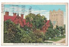 May 8 1930 Postcard Vanderbilt  Hall  And Bingham Yale University New Haven CT