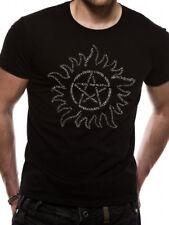 Supernatural Text Symbol T-shirt Black L