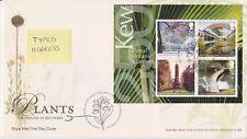 Tallents PCM GB Royal Mail FDC 2009 Plantes Kew Gardens miniature feuille