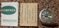 Vintage US Military Air Force 1941 Pocket Compass Longines Wittnauer