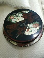 YAMANAKA Lacquerware LAZY SUSAN Red & Black Lacquer Food Server with Lid