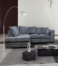 New Casper Fabric Sofa in Grey Beige Corner sofa set Seater sofa