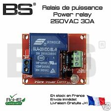 Module relais puissance 30A 250V high power relay module 30A opto-isolated 10073