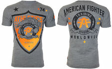 American Fighter Mens S/S T-Shirt ATHENA Eagle GREY Athletic Biker S-XL $40