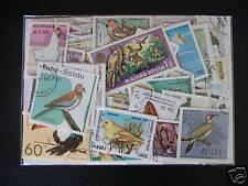 PROMOTION TIMBRES OISEAUX : 100 TIMBRES TOUS DIFFÉRENTS / BIRDS STAMPS ********