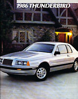 1986 Ford Thunderbird and Turbo 24-page Original Sales Brochure Catalog