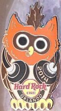 Hard Rock Cafe ORLANDO 2014 HIPSTER OWL PIN Headphones Nose Ring NEW in HRC Bag!