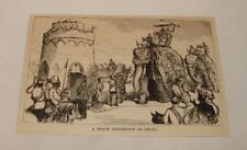 1879 magazine engraving ~ STATE PROCESSION AT DELHI, India