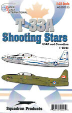 Ms320255/decals-t-33a SHOOTING STAR-USAF & Canadian T-BIRDS - 1/32