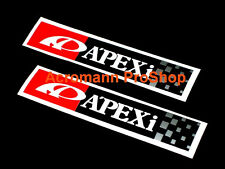 "2x 6"" 15.2cm Apexi Apex Decal Sticker for evo v eclipse rsx integra civic brz 86"