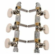 2 pcs Silver Classical Guitar Tuning Keys Steel Pegs Tuners Machine Heads