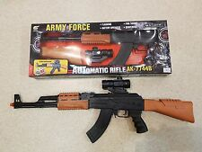 AK7744 Electric Battery Operated Light And Sound Toy Gun Plastic AK47