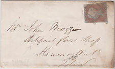 GB QV 1849 COVER PENNY RED 1d RED IMPERF 'RD' FROM LONDON TO EDINBURGH 19TH MAY