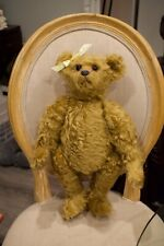 Antique Vintage Joined Bear with Glass Eyes Teddy Bear 18''