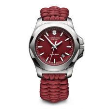 New Victorinox Swiss Army Red Paracord Watch 241744 INOX