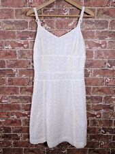 Luella for Target 13 Dress Ivory White Eyelet Lace Fit Flare