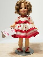 """VINTAGE 1982 IDEAL SHIRLEY TEMPLE 8"""" DOLL STAND UP AND CHEER W/ BOX & STAND"""