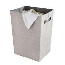 WENKO Wäschesammler Cool Grey Wäschekorb Faltbar 63 Liter