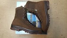 NEW British Army Issue Meindl Desert Fox Brown Leather Combat Boots Size 6W UK