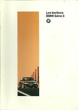 CATALOGUE PUBLICITAIRE BMW SERIE 3 - INCLUS M3  - 1995
