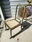 Antique Industrial Simmons Metal Rocking Chair