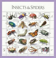 3351  US... Inswcts and Spiders...  Never Hinged Sheet  issued year 1999