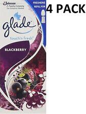 4 x GLADE TOUCH N FRESH REFILL'S 10ML - BLACKBERRY