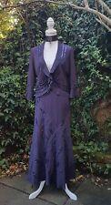 Per Una Falda & Bolero Chaqueta Traje Vamp Bohemio WHITBY GÓTICO Stretch púrpura