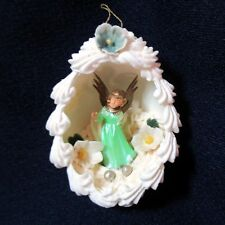 Real Egg Shell Diorama Scene Ornament With Angel Christmas Easter
