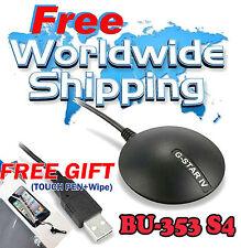Globalsat GPS USB Bu-353-s4 Magnético Antena Patch G-Star Sirf IV Waterproof