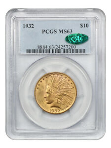 1932 $10 PCGS/CAC MS63 - Indian Eagle - Gold Coin