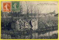 cpa GISY les NOBLES (Yonne) Les FOSSÉS Ruine d'une des TOURS de l'Ancien CHÂTEAU