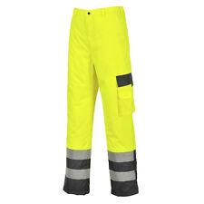 Portwest hombre alta visibilidad Contraste trousers-lined NARANJA/Azul Marino /