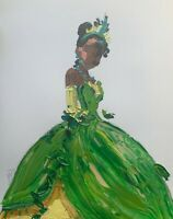 ORIGINAL Abstract Tiana Princess and the Frog Contemporary Disney Art Painting